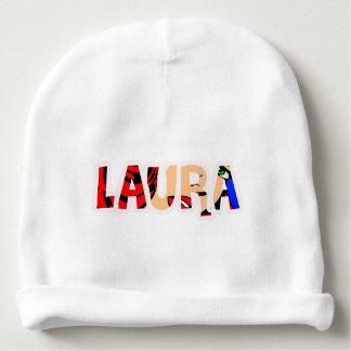 Gorrito for drinks customized Laura Baby Beanie