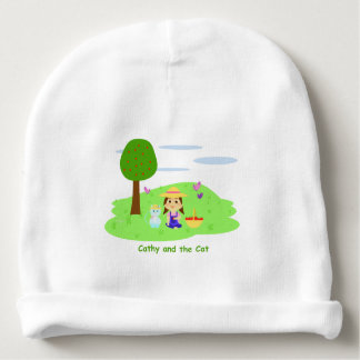 "Gorrito of ""Cathy and the Cat"" with apples Baby Beanie"