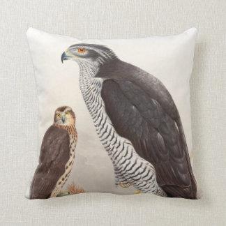 Goshawk John Gould Birds of Great Britain Wildlife Throw Pillow