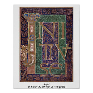 Gospel By Master Of The Gospel Of Wernigerode Poster