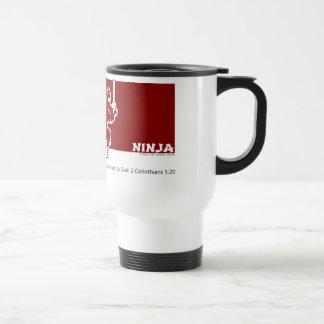 Gospel Ninja Red Over White Travel Mug