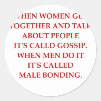 gossip classic round sticker