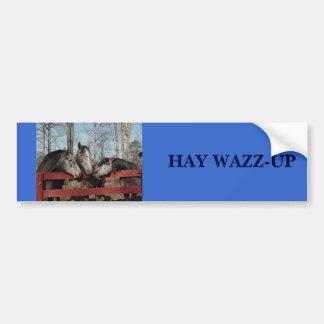 Gossip Corner, HAY WAZZ-UP Bumper Sticker