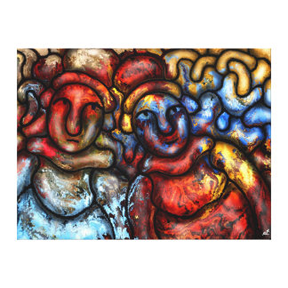 Gossipy aunts by rafi talby canvas print