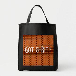 Got 8-Bit? Orange Brick Grocery Tote Bag