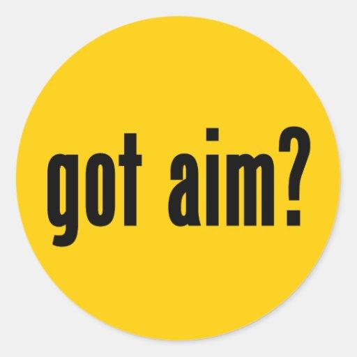 got aim? round stickers