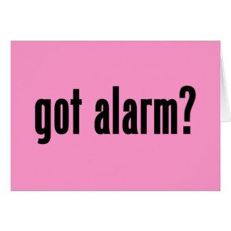 got alarm? card
