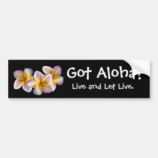 """""""Got Aloha?"""" - Bumper sticker"""