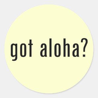 got aloha? classic round sticker