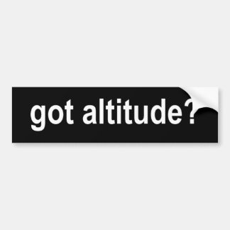 Got Altitude? Bumper Sticker