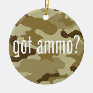 Got ammo? - single-sided round ceramic ornament