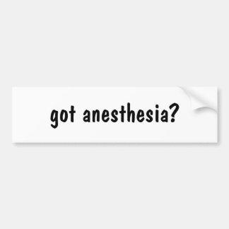 got anesthesia? bumper sticker