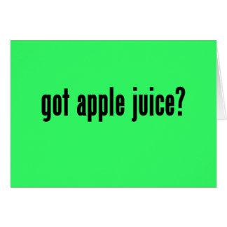 got apple juice? card