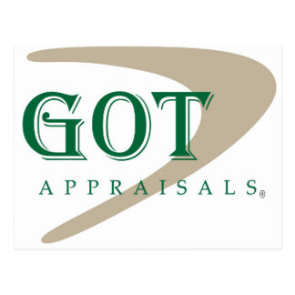 Got Appraisals Products and Apparel Postcard