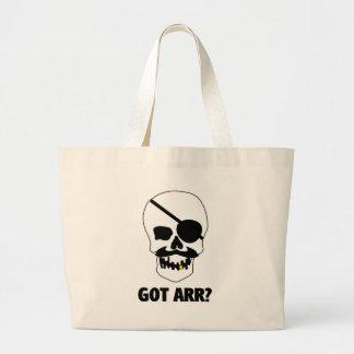 Got Arr? Pirate Skull Jumbo Tote Bag
