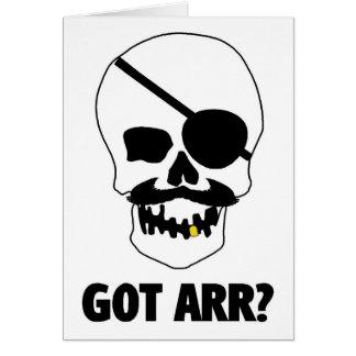 Got Arr? Pirate Skull Greeting Card