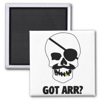Got Arr? Pirate Skull Square Magnet