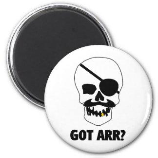 Got Arr? Pirate Skull 2 Inch Round Magnet
