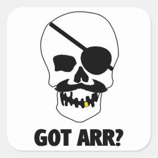 Got Arr? Pirate Skull Square Sticker