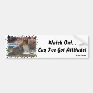 Got Attitude! Squirrel Bumper Sticker