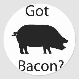Got bacon round sticker