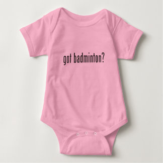 got badminton? baby bodysuit