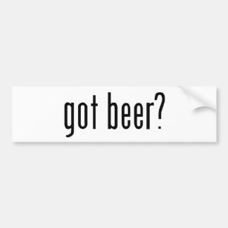 got beer? bumper sticker
