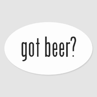 got beer? oval sticker