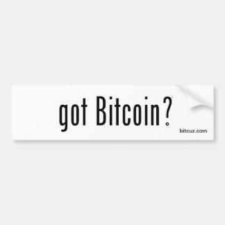 Got Bitcoin? Bumper Sticker