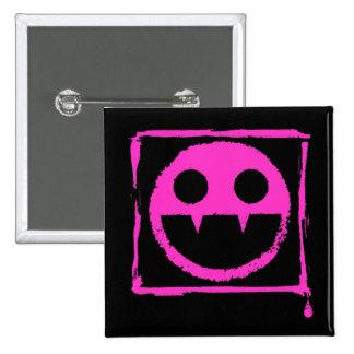 got blud smily ded girl vamp Smily n' Fangs!! 2 Inch Square Button