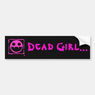 got blud smily ded girl vamp Smily n Fangs Bumper Sticker