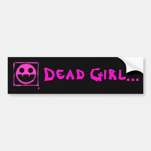 got blud smily ded girl vamp Smily n' Fangs!! Bumper Sticker