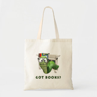 Got Books? Bookworm Tote Bag