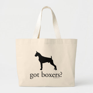 got boxers? Silhouette Large Tote Bag
