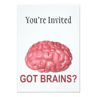 "Got Brains? 5"" X 7"" Invitation Card"
