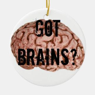 Got Brains? Round Ceramic Ornament