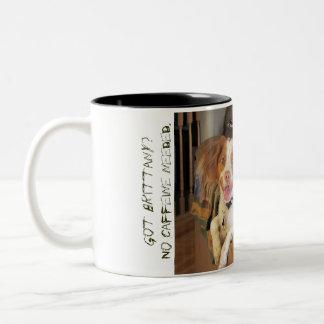 Got brittany? Two-Tone coffee mug