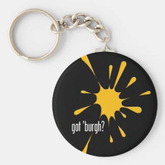 got 'burgh? basic round button keychain