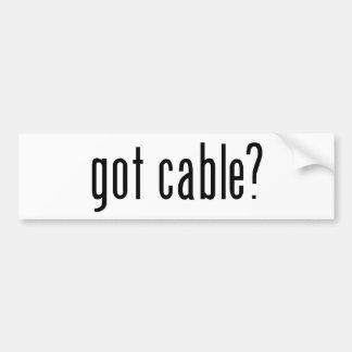 got cable? bumper sticker