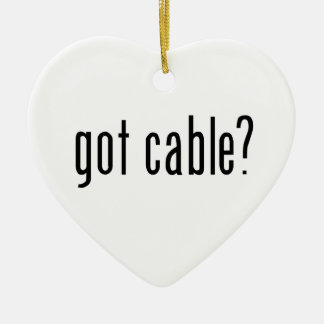 got cable? ceramic ornament