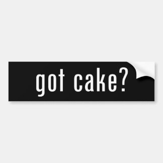 got cake? bumper sticker