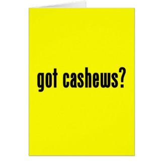got cashews cards