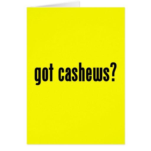 got cashews? cards