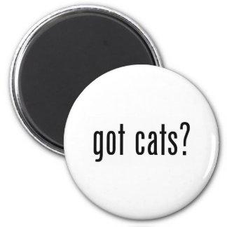 got cats? 2 inch round magnet