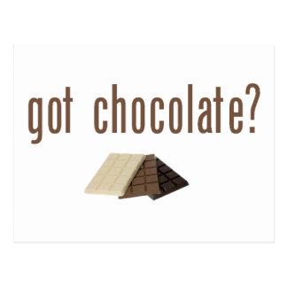 Got Chocolate? (w/bars) Postcard