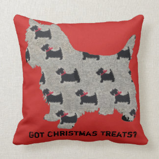 Got Christmas Treats? Cairn Terrier Pillow