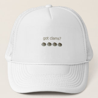 got clams? logo trucker hat