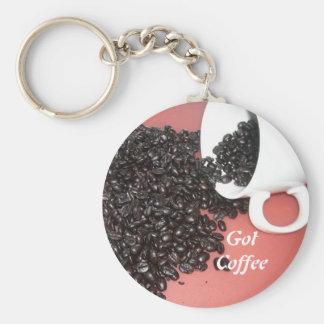 Got Coffee Basic Round Button Keychain