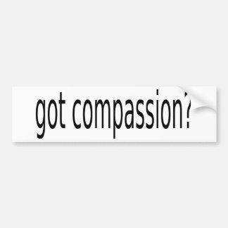 got compassion? bumper sticker