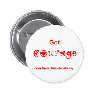 Got Courage - Red 2 Inch Round Button
